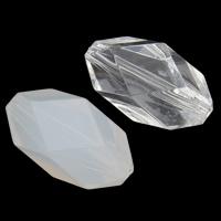Transparente Acryl-Perlen, Acryl, oval, verschiedene Stile für Wahl & facettierte, 18x9mm, Bohrung:ca. 1mm, 2Taschen/Menge, ca. 450PCs/Tasche, verkauft von Menge