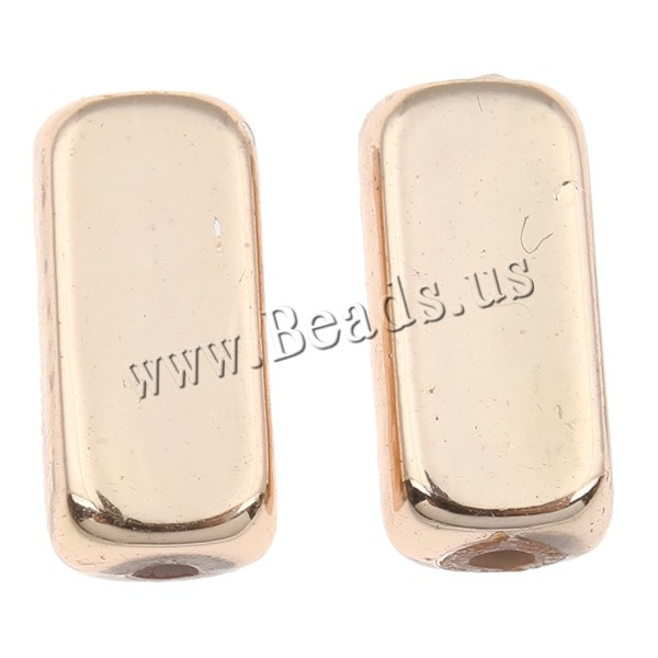 Plated Acrylic Beads Rectangle UV plating 6x13x4mm Hole:Approx 1mm Approx 1600PCs/Bag Sold Bag