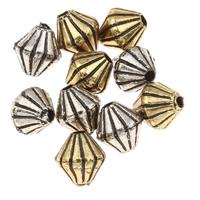 Plattierte Acrylperlen, Acryl, Doppelkegel, keine, 6x6mm, Bohrung:ca. 1mm, ca. 5800PCs/Tasche, verkauft von Tasche