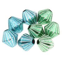 Silberdruck Acrylperlen, Acryl, Doppelkegel, keine, 8x8mm, Bohrung:ca. 1mm, ca. 2500PCs/Tasche, verkauft von Tasche