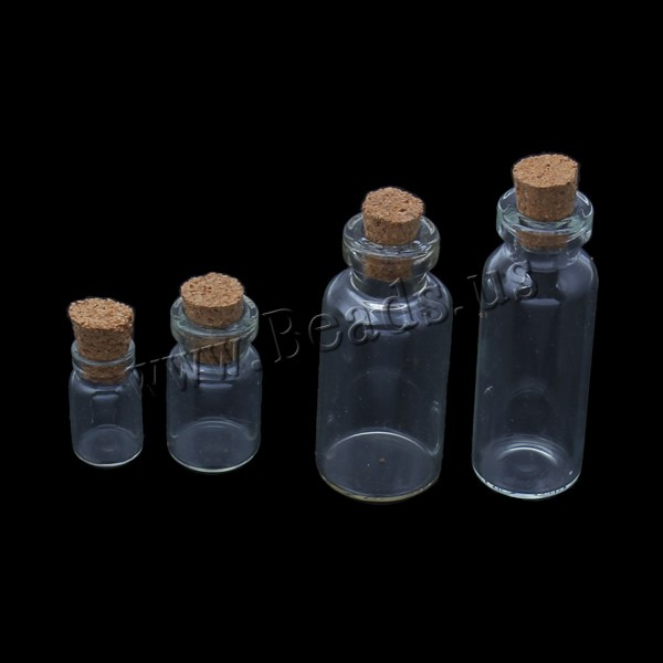 Jewelry Beads Container Glass wood stopper transparent & different size choice 5PCs/Bag Sold Bag