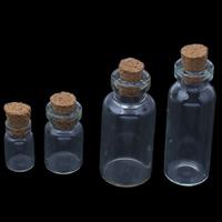 Schmuck Nagelkasten, Glas, mit Holzpfropfen, transparent & verschiedene Größen vorhanden, 5PCs/Tasche, verkauft von Tasche