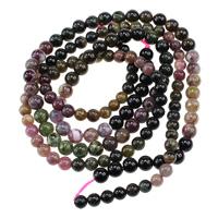 Turmalin Perle, rund, natürlich, Oktober Birthstone & verschiedene Größen vorhanden, farbenfroh, verkauft per ca. 16 ZollInch Strang