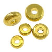 Messing Zwischenperlen, Rondell, vergoldet, verschiedene Größen vorhanden & hochwertige Beschichtung und nie verblassen, frei von Nickel, Blei & Kadmium, verkauft von Menge