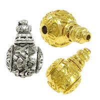 Messing 3-Loch-Guru-Perlen-Set, rund, plattiert, buddhistischer Schmuck & om mani padme hum & verschiedene Größen vorhanden, keine, frei von Nickel, Blei & Kadmium, Bohrung:ca. 4mm, 3mm, 10PCs/Menge, verkauft von Menge