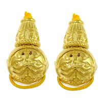 Messing 3-Loch-Guru-Perlen-Set, rund, vergoldet, buddhistischer Schmuck & om mani padme hum & hochwertige Beschichtung und nie verblassen, frei von Nickel, Blei & Kadmium, 18mm, 7x8x7mm, 11x10mm, Bohrung:ca. 1.5mm, 2.5mm, 20PCs/Menge, verkauft von Menge