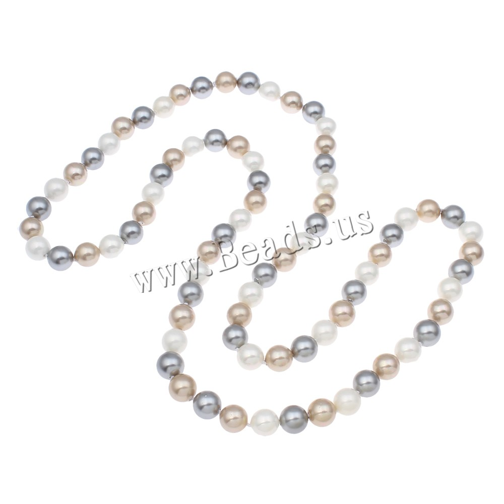 Buy Clearance Fashion Necklace South Sea Shell Round natural multi-colored 10mm Sold Per Approx 32 Inch Strand