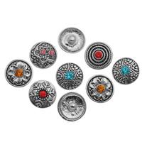 Zinklegierung Verbindungselement Komponente ausrichten, antik silberfarben plattiert, mit Strass & gemischt, frei von Nickel, Blei & Kadmium, 20mm, 10PCs/Tasche, verkauft von Tasche