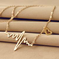 Zinklegierung Schmuck Halskette, mit Verlängerungskettchen von 5cm, goldfarben plattiert, frei von Nickel, Blei & Kadmium, 46x30mm, verkauft per ca. 17 ZollInch Strang