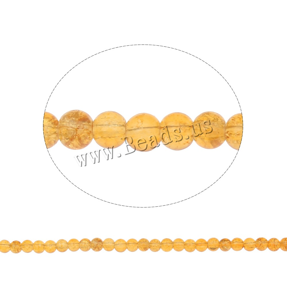 Buy Crackle Glass Beads Round orange 6mm Hole:Approx 1mm Length:Approx 31 Inch 10Strands/Bag Sold Bag