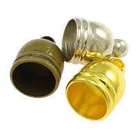 Messing Endkappe, plattiert, keine, frei von Nickel, Blei & Kadmium, 7x10mm, Bohrung:ca. 1mm, 6mm, 1000PCs/Menge, verkauft von Menge