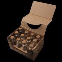 Glas Wunschflasche, mit Holzpfropfen, transparent, 30x80mm, 12PCs/Box, verkauft von Box