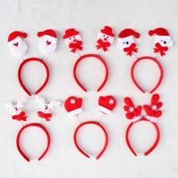 Baumwollsamt Haarband, mit Acryl, Weihnachtsschmuck & gemischt, 120x250mm, 10PCs/Tasche, verkauft von Tasche