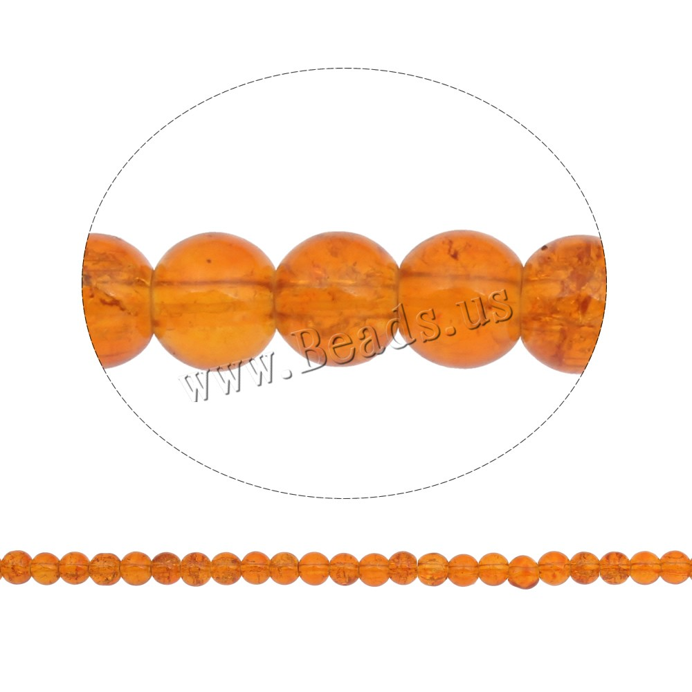Buy Crackle Glass Beads Round yellow 6mm Hole:Approx 1mm Length:Approx 31.4 Inch 10Strands/Bag Sold Bag