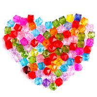 Transparente Acryl-Perlen, Acryl, verschiedene Größen vorhanden & facettierte, keine, frei von Nickel, Blei & Kadmium, verkauft von Tasche