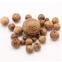 Buddhistische Perlen, Holz, rund, buddhistischer Schmuck & verschiedene Größen vorhanden, frei von Nickel, Blei & Kadmium, verkauft von Menge