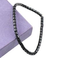 Non- magnetische Hämatit Armband, 3.50x3.50mm, Länge:ca. 7 ZollInch, 20SträngeStrang/Menge, verkauft von Menge