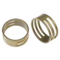 Messing Sprung Ring näher, Rondell, antike Bronzefarbe plattiert, frei von Nickel, Blei & Kadmium, 19x8mm, Größe:6.5, verkauft von PC