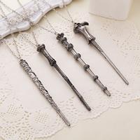 Zinklegierung Schmuck Halskette, Zauberstab, antik silberfarben plattiert, verschiedene Stile für Wahl, frei von Nickel, Blei & Kadmium, verkauft von Strang
