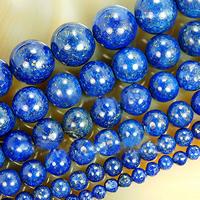 Lapislazuli Perlen, natürlicher Lapislazuli, rund, verschiedene Größen vorhanden, frei von Nickel, Blei & Kadmium, Bohrung:ca. 1-2mm, verkauft per ca. 15 ZollInch Strang
