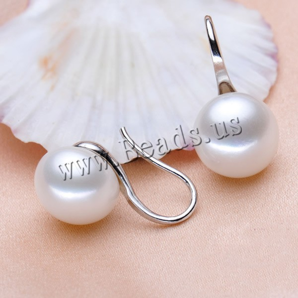 Buy Freshwater Pearl Stud Earring brass earring hook Button Shape plated natural colors choice 9-10mm Sold Pair