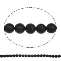 Buddhistische Perlen, Schwarzer Achat, rund, natürlich, buddhistischer Schmuck & om mani padme hum, 10mm, Bohrung:ca. 1mm, ca. 38PCs/Strang, verkauft per ca. 15 ZollInch Strang