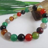 Regenbogen Achat Armband, rund, natürliche & verschiedene Größen vorhanden, verkauft per ca. 7.5 ZollInch Strang