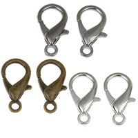 Zinklegierung Karabinerverschluss, plattiert, keine, frei von Nickel, Blei & Kadmium, 11x21x4mm, Bohrung:ca. 2mm, verkauft von Tasche