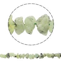 Grüner Quarz Perle, natürlich, 12-23mm, Bohrung:ca. 1mm, ca. 43PCs/Strang, verkauft per ca. 16.3 ZollInch Strang