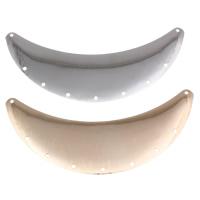 Eisen Schmuckverbinder, Mond, plattiert, 2/7 Öse, keine, frei von Nickel, Blei & Kadmium, 86x35x0.50mm, Bohrung:ca. 1mm, Innendurchmesser:ca. 2mm, verkauft von PC