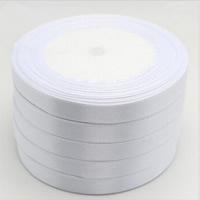 Satinband, mit PE Schaumstoff, weiß, 6mm, 22m/PC, verkauft von PC