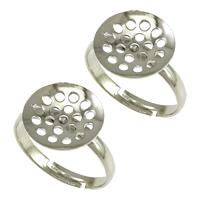 Messing Sieb Ring Basis, Platinfarbe platiniert, einstellbar, frei von Nickel, Blei & Kadmium, 12x3mm, 2.5mm, Größe:7, 200PCs/Menge, verkauft von Menge