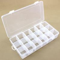 Schmuck Nagelkasten, Kunststoff, Rechteck, transparent & 18 Zellen, klar, 227x113x43mm, verkauft von PC