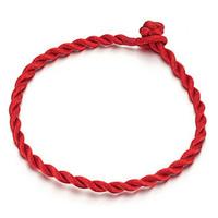 Mode Armband Schnur, Nylon, rot, 3mm, Länge:ca. 7 ZollInch, 100SträngeStrang/Menge, verkauft von Menge
