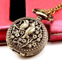 Mode Halskette Uhr, Zinklegierung, mit Eisenkette & Glas, flache Runde, antike Bronzefarbe plattiert, Twist oval & hohl, frei von Nickel, Blei & Kadmium, 28mm, verkauft per ca. 31 ZollInch Strang
