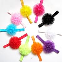 Organza Schweißband, mit elastische Nylonschnur, Blume, elastisch & für Kinder, keine, 50mm, Länge:ca. 14 ZollInch, 30SträngeStrang/Tasche, verkauft von Tasche