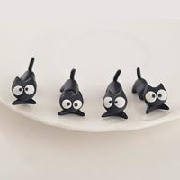 Polymer Ton Cartoon-Split-Ohrring, Edelstahl Stecker, Katze, handgemacht, 40mm, verkauft von Paar