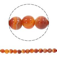 Natürliche Streifen Achat Perlen, rund, synthetisch, verschiedene Größen vorhanden, rot, Bohrung:ca. 1mm, verkauft per ca. 15 ZollInch Strang