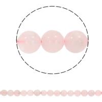 Natürliche Rosenquarz Perlen, rund, synthetisch, verschiedene Größen vorhanden, Bohrung:ca. 1mm, verkauft per ca. 15.5 ZollInch Strang