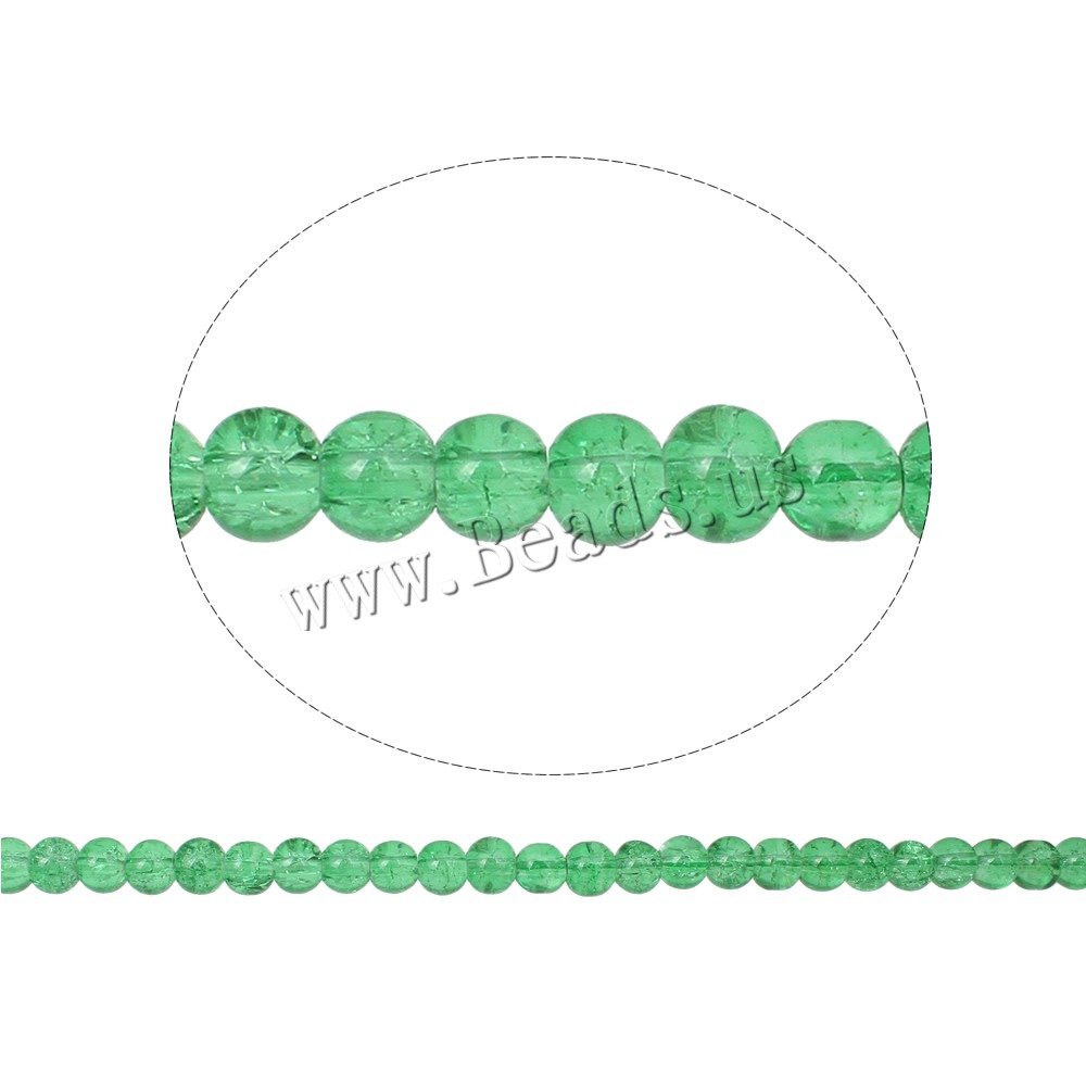 Buy Crackle Glass Beads Round light green 6mm Hole:Approx 1.5mm Length:Approx 31.5 Inch 10Strands/Bag Sold Bag