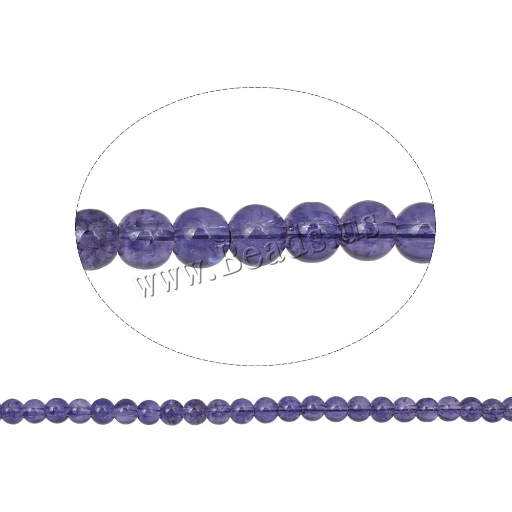 Buy Crackle Glass Beads Round purple 4mm Hole:Approx 1mm Length:Approx 30 Inch 10Strands/Bag Sold Bag