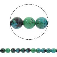 Synthetischer Chrysokoll Perle, rund, verschiedene Größen vorhanden, Bohrung:ca. 1mm, verkauft per ca. 15.5 ZollInch Strang