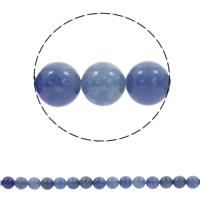 Blauer Aventurin Perle, rund, synthetisch, verschiedene Größen vorhanden, Bohrung:ca. 1mm, verkauft per ca. 15.5 ZollInch Strang