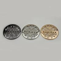 Zink-Legierung Clip Buckle, Zinklegierung, flache Runde, plattiert, hohl, keine, frei von Nickel, Blei & Kadmium, 43mm, 100PCs/Menge, verkauft von Menge