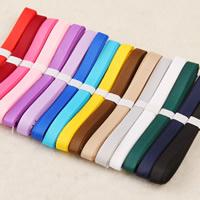 Ripsband, gemischte Farben, 6mm, 100SträngeStrang/Tasche, 1m/Strang, verkauft von Tasche