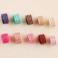 Segeltuch Multifunktionsleiste Kabel, mit Brief Muster, gemischte Farben, 9mm, 100SträngeStrang/Tasche, 1m/Strang, verkauft von Tasche