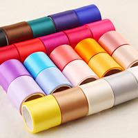Satinband, gemischte Farben, 6mm, 100SträngeStrang/Tasche, 5m/Strang, verkauft von Tasche