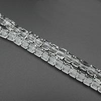 Kubische Kristallperlen, Kristall, kubistisch, verschiedene Stile für Wahl & facettierte, 10mm, Bohrung:ca. 1.5mm, ca. 79PCs/Strang, verkauft per ca. 30.5 ZollInch Strang