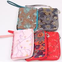 Geldbörse, Seide, mit Eisen, Rechteck, gemischte Farben, 115x170mm, 10PCs/Tasche, verkauft von Tasche