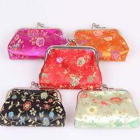 Geldbörse, Seide, mit Eisen, Trapez, gemischte Farben, 85x65mm, 10PCs/Tasche, verkauft von Tasche